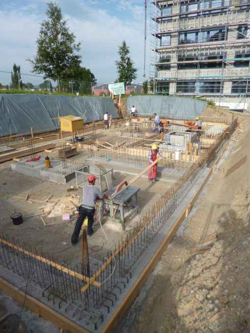 SF-Bau-Beginn Fundament-Schlüsselfertigbau