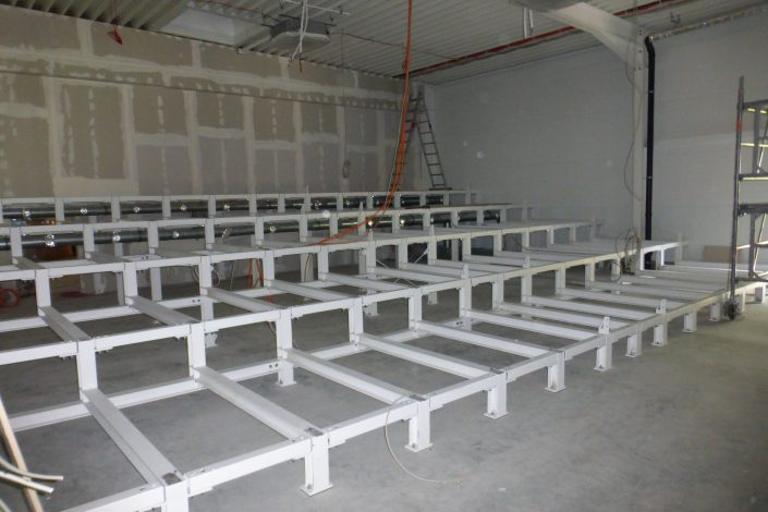 SF-Bau-Unterkonstruktion Präsentationsraum-Schlüsselfertigbau