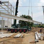Stahlbau-Einbau schwebender Träger