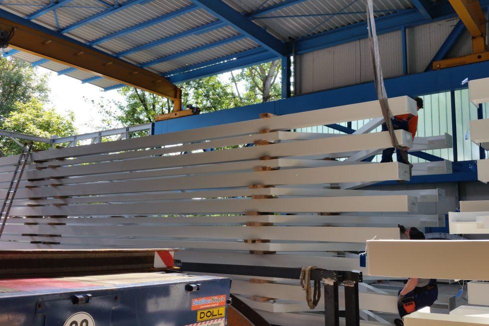 Stahlbau-Materialbereitstellung