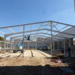SF-Bau-Baufortschritt Stahlbau-Schlüsselfertigbau