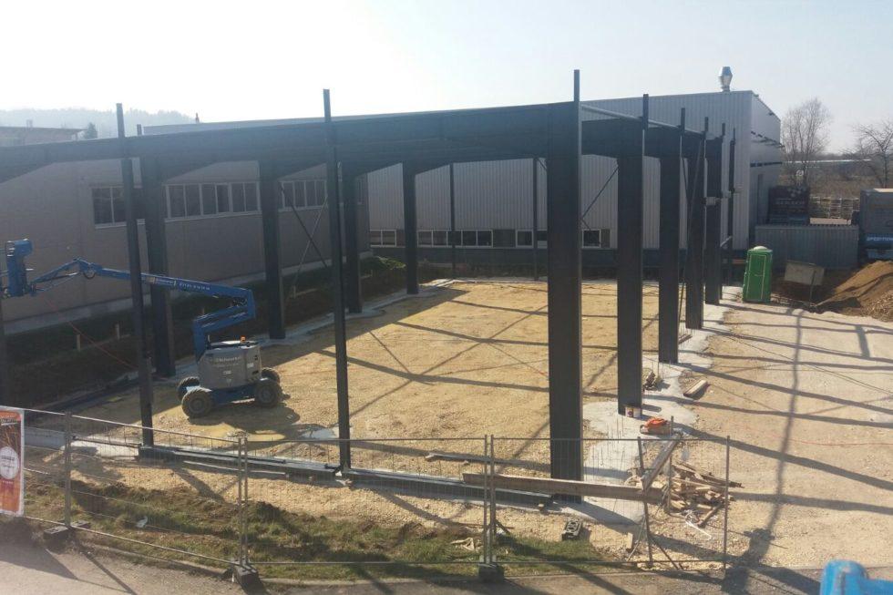 Stahlbau-Stellung Stahlkonstruktion Halle-Dürnau