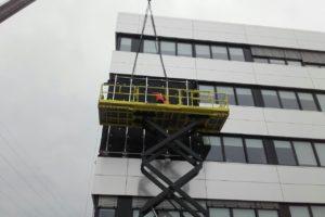 Stahlbau-Montage Unterkonstruktion für Videowand-Schrammberg