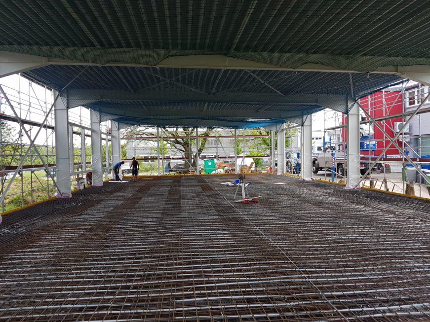 SF-Bau-Vorbereitung Bodenplatte-Jebenhausen-Neubau Lagerhalle-Stahlbau-Schlüsselfertigbau