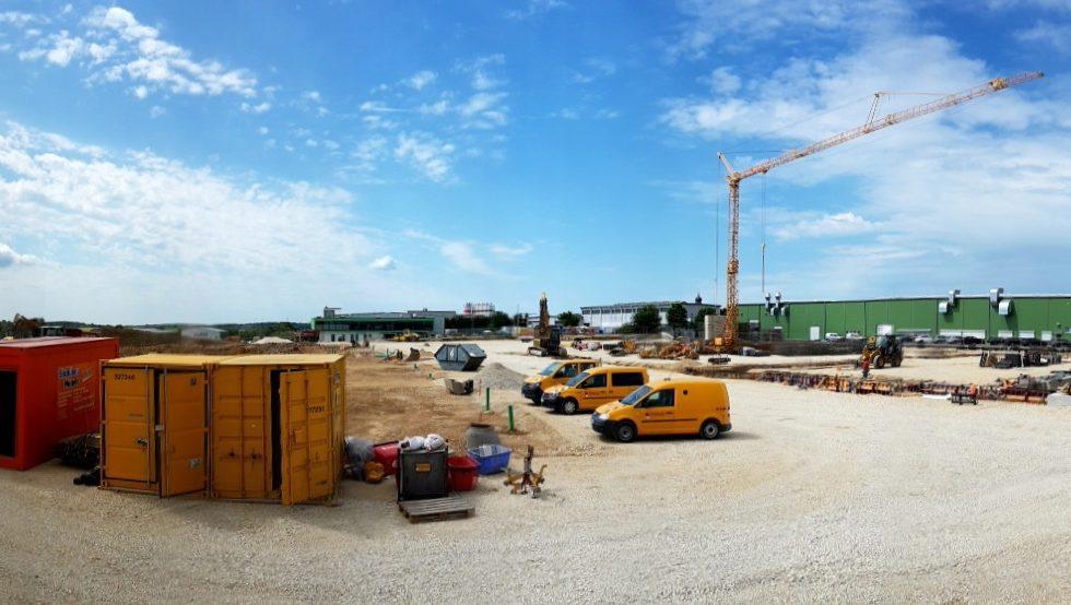 SF-Bau-BAustellenübersicht-Hallenneubau-Merklingen-Stahlbau-Schlüsselfertigbau