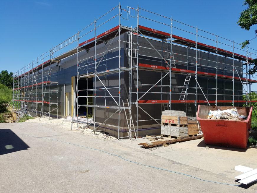 SF-Bau-Anbringung ISowand-Jebenhausen-Neubau Lagerhalle-Stahlbau-Schlüsselfertigbau