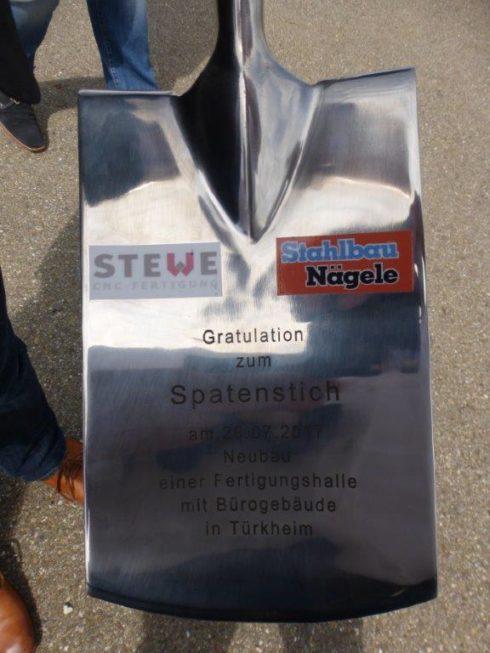 SF-Bau-Spatenstich in Türkheim-Neubau Produktionshalle mit Büro- und Sozialgebäude-Stahlbau-Schlüsselfertigbau