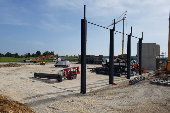 SF-Bau-Start Stellung Stahlbau-Türkheim-Stahlbau-Schlüsselfertigbau