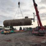 SF-Bau-Start Erdarbeiten-Neubau Lagerhalle-Mainhardt-Stahlbau-Schlüsselfertigbau