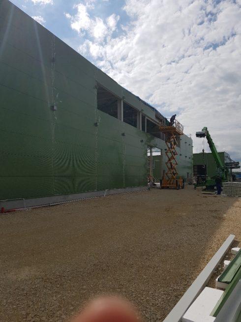 SF-Bau-Anbringung Gebäudehülle-Hallenneubau-Merklingen-Stahlbau-Schlüsselfertigbau