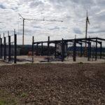 SF-Bau-Stellung Stahlbau-Neubau Produktionshalle mit Büro- und Sozialgebäude-Türkheim-Stahlbau-Schlüsselfertigbau