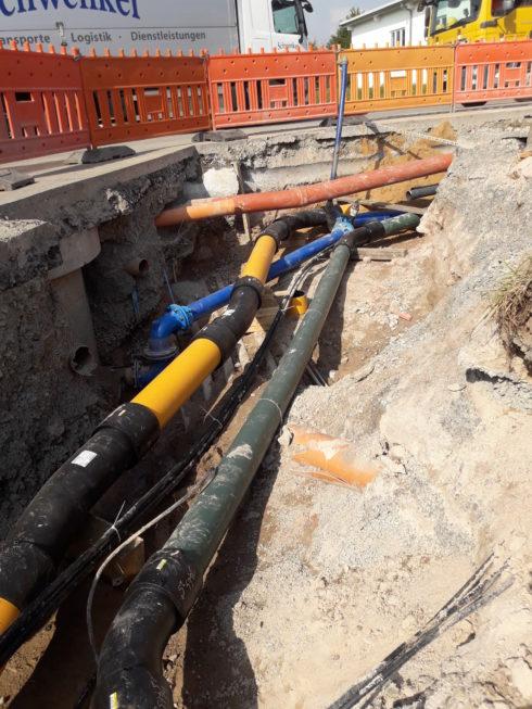 SF-Bau-Start Entwässerungsarbeiten-Mainhardt-Stahlbau-Schlüsselfertigbau