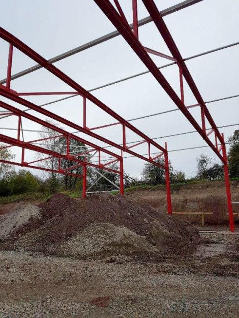 SF-Bau-Stellung Stahlbau-Neubau Lagerhalle-Mainhardt-Stahlbau-Schlüsselfertigbau