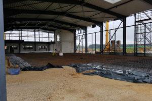 SF-Bau-Vorbereitung Bodenplatte-Neubau Produktionshalle mit Büro- und Sozialgebäude-Türkheim-Stahlbau-Schlüsselfertigbau