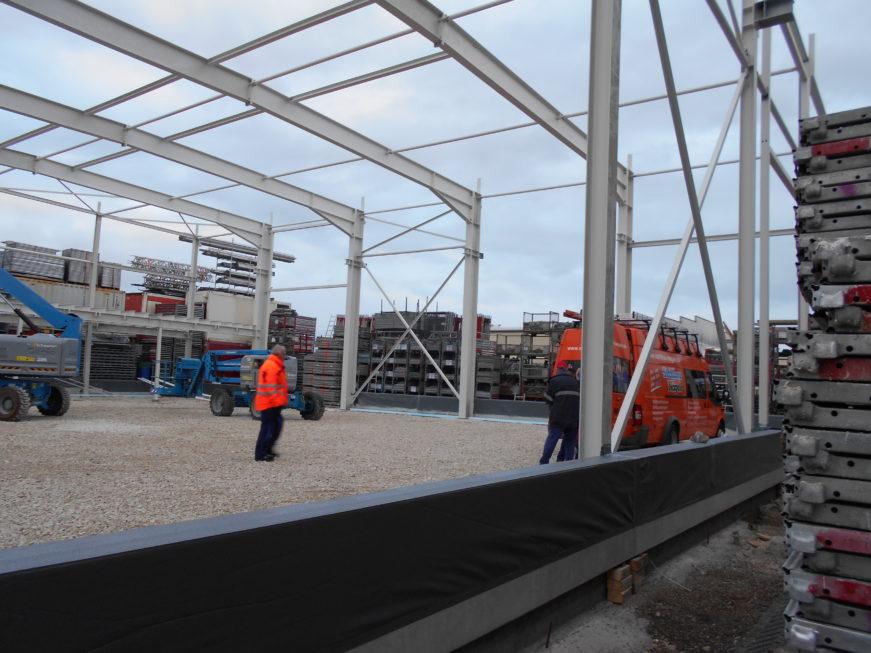 SF-Bau-Stellung Stahlbau-Neubau Bürogebäude und Lagerhalle-Filderstadt-Bonladen-Stahlbau-Schlüsselfertigbau
