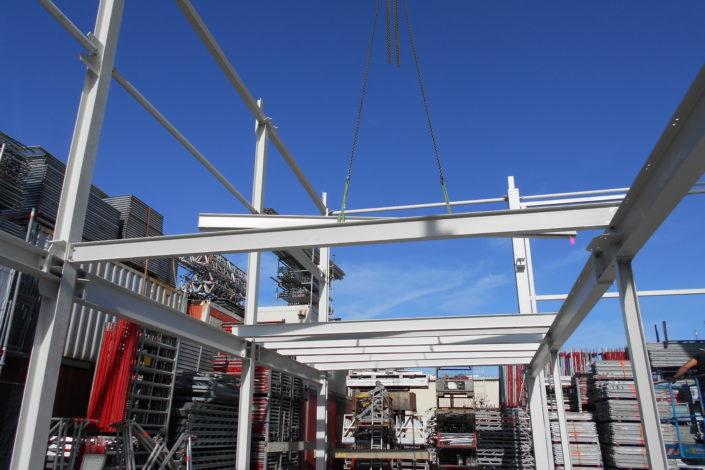 SF-Bau-Stellung Stahlbau-Neubau Bürogebäude und Lagerhalle-Filderstadt-Bonlanden-Stahlbau-Schlüsselfertigbau