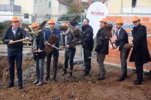 SF-Bau-Spatenstich Neubau Autohaus mit Werkstatt und Ausstellungshalle-Remshalden-Stahlbau-Schlüsselfertigbau