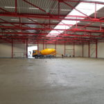 SF-Bau-Bodenplatte betoniert-Mainhardt-Neubau Lagerhalle-Stahlbau-Schlüsselfertigbau