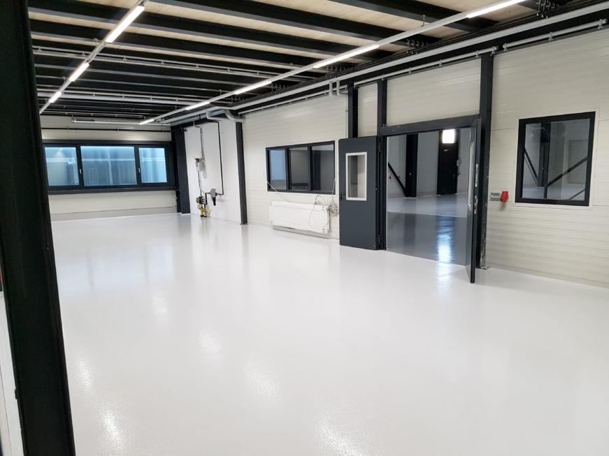 SF-Bau-Neubau Produktionshalle mit Büro- und Sozialgebäude-Türkheim-Stahlbau-Schlüsselfertigbau