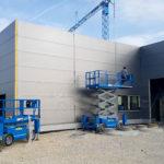SF-Bau-Fassade und Fenster-Neubau Autohaus mit Ausstellungsraum-Böhmenkirch-Stahlbau-Schlüsselfertigbau