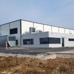 SF-Bau-Außenanlagen-Neubau Produktionshalle mit Büro- und Sozialgebäude-Türkheim-Stahlbau-Schlüsselfertigbau