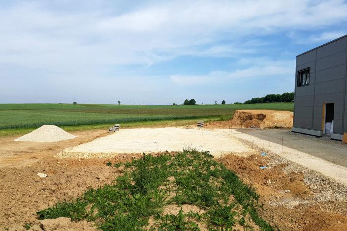SF-Bau-Beginn Außenanlagen-Neubau Autohaus mit Ausstellungsraum-Böhmenkirch-Stahlbau-Schlüsselfertigbau