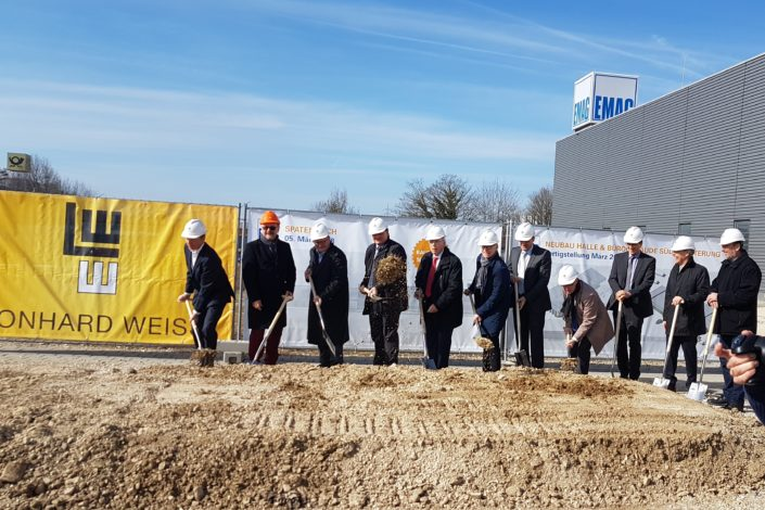 I-Bau-Spatenstich-Neubau Montagehalle mit Bürogebäude-Salach-Komplettbau-Stahlbau-Industriebau