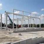 SF-Bau-Stellung Stahlbau-Neubau Produktionshalle mit Büro- und Sozialräumen-Kirchheim-Schlüsselfertigbau