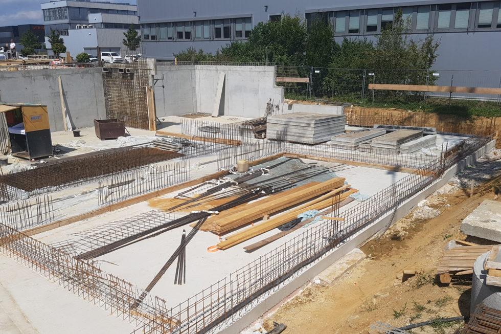 SF-Bau-Erdbauarbeiten-Erweiterung best. Halle mit Büro-Jebenhausen-Stahlbau-Schlüsselfertigbau