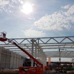 I-Bau-Stahlkonstruktion-Neubau Montagehalle mit Bürogebäude-Salach-Stahlbau-Komplettbau-Industriebau