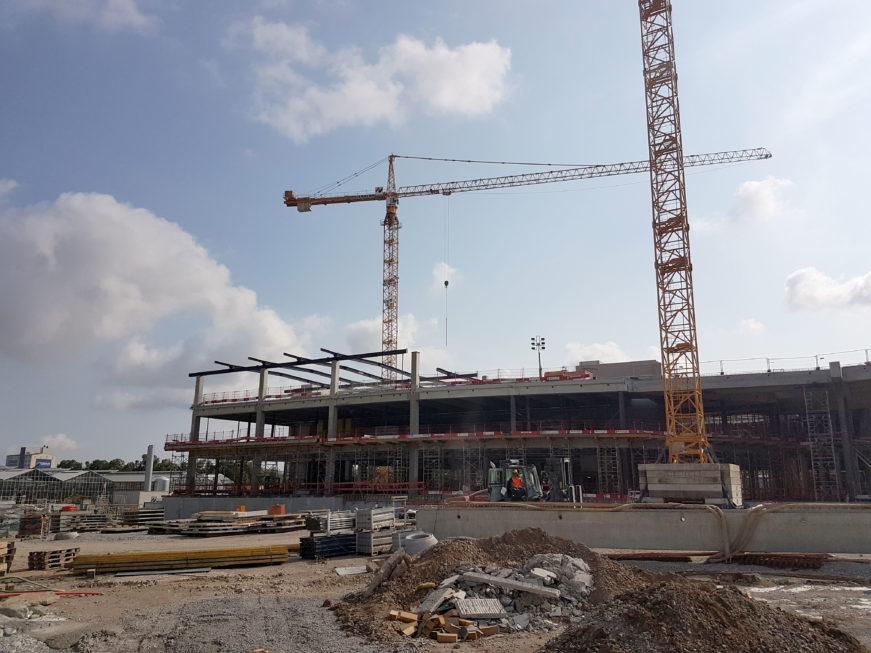 I-Bau-Stahlkonstruktion Montage-Neubau Möbelhaus-Heilbronn-Stahlbau-Komplettbau-Industriebau