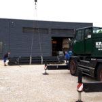 SF-Bau-Stahlbaumontage-Anbau Wareneingangshalle mit Sozialräumen-Eislingen-Stahlbau-Schlüsselfertigbau