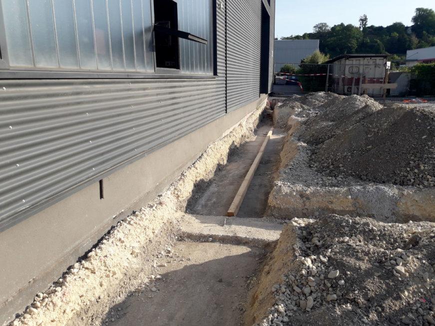 SF-Bau-Fundamente und Entwässerung-Anbau Wareneingangshalle mit Sozialräumen-Eislingen-Stahlbau-Schlüsselfertigbau