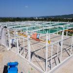 SF-Bau-Stahlkonstruktion-Neubau Produktionshalle mit Büro- und Sozialräumen-Kirchheim-Stahlbau-Schlüsselfertigbau