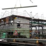 SF-Bau-Porenbetonwand-Trapezblech-Anbau Wareneingangshalle mit Sozialräumen-Eislingen-Stahlbau-Schlüsselfertigbau