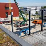 SF-Bau-Stahlbauarbeiten-Erweiterung best. Halle mit Büro-Jebenhausen-Stahlbau-Schlüsselfertigbau
