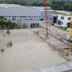 SF-Bau-Stahlbauarbeiten-Montage-Erweiterung best. Halle mit Büro-Jebenhausen-Stahlbau-Schlüsselfertigbau