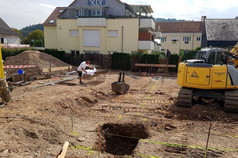 SF-Bau-Fundamentarbeiten-Neubau Autohaus mit Werkstatt und Ausstellungshalle-Remshalden-Stahlbau-Schlüsselfertigbau