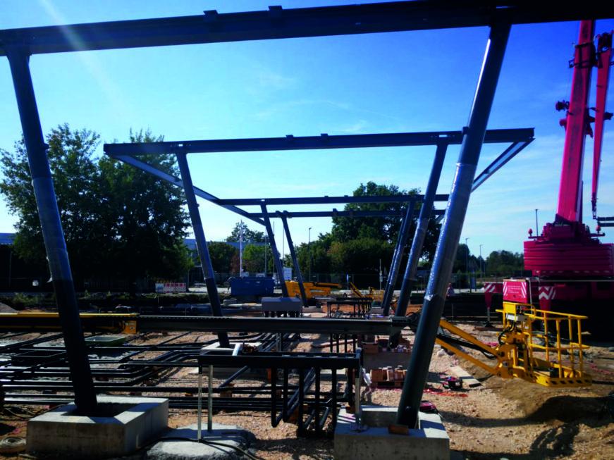 Stahlbau-Stahlbauarbeiten-Neubau Automatentankstelle-Wertingen-Stahlbau