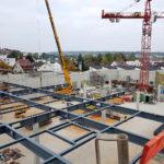 Stahlbau-Stellung Stahldachkonstruktion-Neubau Flagship Outlet Center-Metzingen-Stahlbau