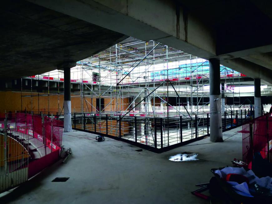 I-Bau-Schlosserarbeiten-Neubau Möbelhaus-Heilbronn-Stahlbau-Komplettbau-Industriebau