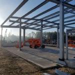I-Bau-Stahlbauarbeiten-Neubau Wareneingangshalle-Weißenhorn-Stahlbau-Komplettbau-Industriebau