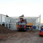 SF-Bau-Stahlbaumontage-Neubau Autohaus mit Werkstatt und Ausstellungshalle-Remshalden-Stahlbau-Schlüsselfertigbau