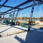 Stahlbau-bombierte Stahlstützen-Neubau Automatentankstelle-Wertingen-Stahlbau
