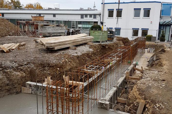 SF-Bau-Stahlbetonarbeiten-Anbau Halle-Eschenbach-Stahlbau-Schlüsselfertigbau