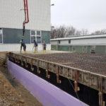 SF-Bau-Decke über UG betonieren-Anbau Halle-Eschenbach-Stahlbau-Schlüsselfertigbau
