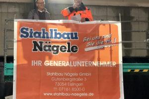 SF-Bau-Richtfest-Erweiterung best. Halle mit Büro-Jebenhausen-Stahlbau-Schlüsselfertigbau