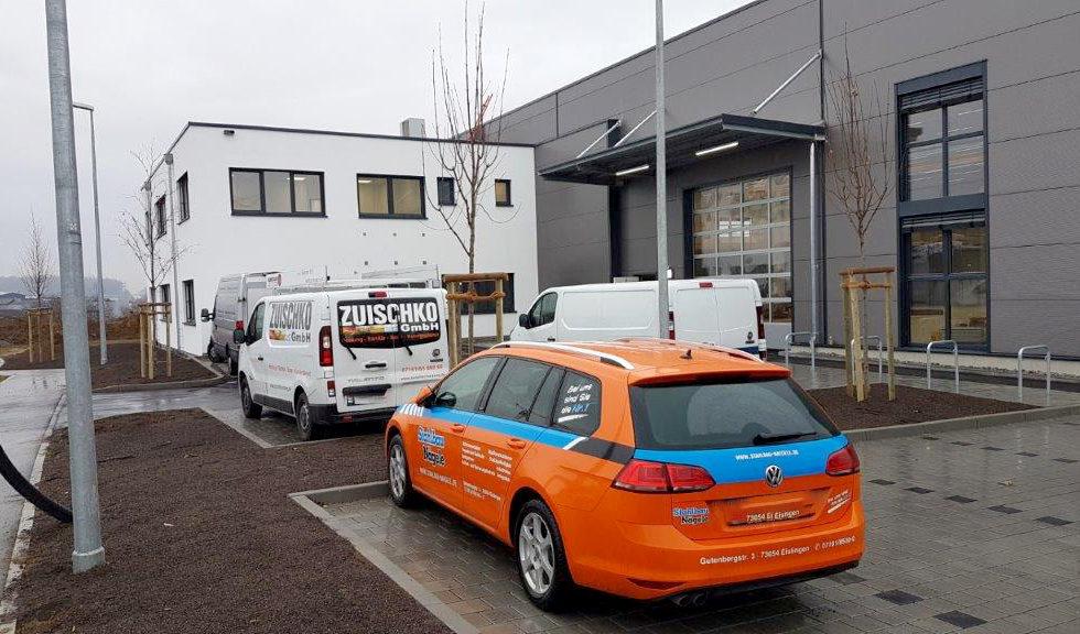 SF-Bau-Zielgerade-Außenanlage-Neubau Produktionshalle mit Büro- und Sozialräumen-Kirchheim-Stahlbau-Schlüsselfertigbau