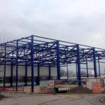 SF-Bau-Stahlkonstruktion Montage-Anbau Halle-Eschenbach-Stahlbau-Schlüsselfertigbau