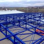 SF-Bau-Stahlkonstruktion-Anbau Halle-Eschenbach-Stahlbau-Schlüsselfertigbau